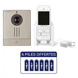 """AIPHONE Kit carillon sans fil 100M DECT audio/vidéo 2.4"""" - WL11"""