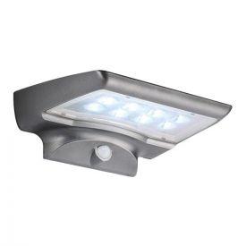 Applique solaire LED murale à détection 4W 300lm 6000°K gris