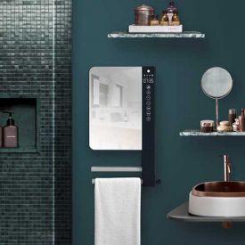 ATLANTIC Télia Sèche-serviettes miroir avec soufflerie 2 barres 1800W - 720111