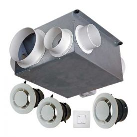 AUTOGYRE Kit VMC simple flux autoréglable à détection d'humidité extra plate Maison' Air - 100536