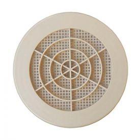 DMO S Grille PVC concentrique àclips et moustiquaire sable