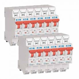 EATON Lot de 12 disjoncteurs 10A auto Ph+N courbe C 4.5kA 230V - EAT109128-L12