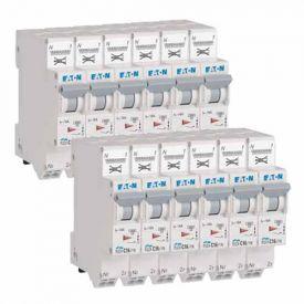 EATON Lot de 12 disjoncteurs 16A auto Ph+N courbe C 4.5kA 230V - EAT109130-L12
