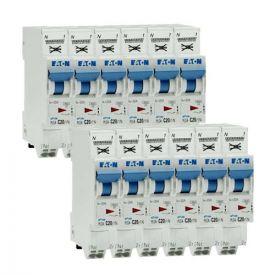 EATON Lot de 12 disjoncteurs 20A auto Ph+N courbe C 4.5kA 230V - EAT109131-L12