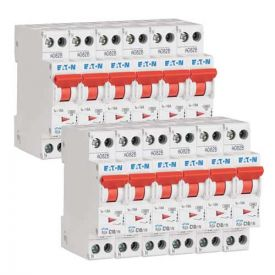 EATON Lot de 12 disjoncteurs 10A Ph+N courbe C 4.5kA 230V - EAT264744-L12