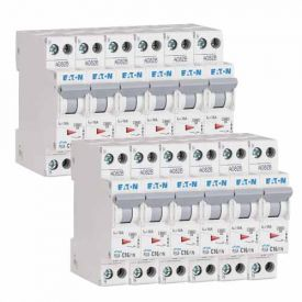 EATON Lot de 12 disjoncteurs 16A Ph+N courbe C 4.5kA 230V - EAT264746-L12