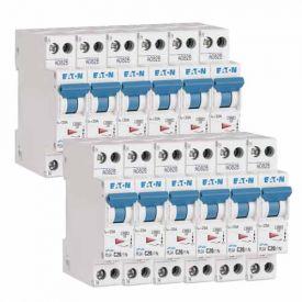 EATON Lot de 12 disjoncteurs 20A Ph+N courbe C 4.5kA 230V- EAT264747 -L12