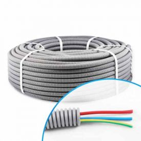 Gaine électrique ICTA préfilée 3G2.5 R/B/VJ D20 Elettrocanali - Couronne de 100m