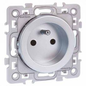 EUROHM Square Prise de courant 2P+T silver  - 60460