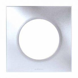 EUROHM Square Plaque simple silver - 60490