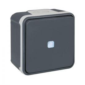 EUROHM Oxxo Interrupteur va et vient lumineux étanche complet anthracite IP55 - 60801