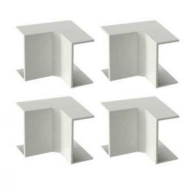GGK Angles intérieurs pour moulure électrique 7x12mm blanc - lot de 4