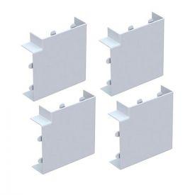 GGK Angles plats pour moulure électrique 15x30mm blanc - lot de 4