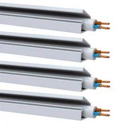 GGK Lot de 4 moulures électriques adhésives 7x12mm L.1,5m blanche WS10202