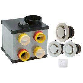 HBH Kit VMC simple flux hygrovariable Silencio HV - H080044