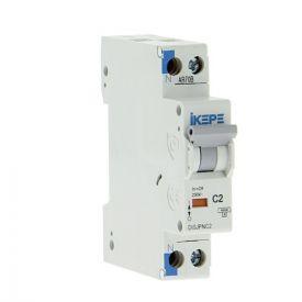 IKEPE Disjoncteur 2A Ph+N courbe C 4.5kA 230V