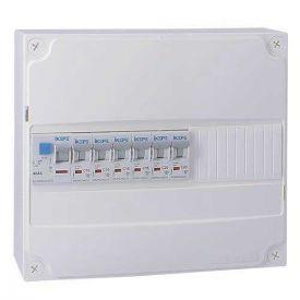 IKEPE Tableau électrique pré équipé auto 1 rangée 1ID 40A 6 disjoncteurs
