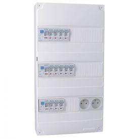 IKEPE Tableau électrique pré équipé auto 3 rangées 3ID 63A 12 disjoncteurs