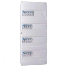 IKEPE Tableau électrique pré équipé auto 4 rangées 4ID 40A 14 disjoncteurs