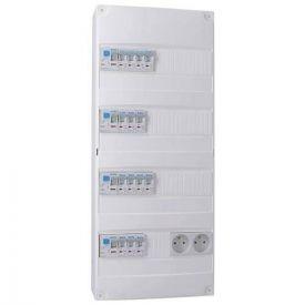 IKEPE Tableau électrique pré équipé auto 4 rangées 2ID 40A 2ID 63A 14 disjoncteurs