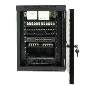 IKEPE Baie de brassage Grade 3TV - 24RJ45 - 8TV avec Switch 16 ports Gb