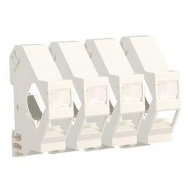 IKEPE Lot de 4 supports modulaires pour connecteurs RJ45