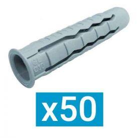 ING FIXATIONS Cheville nylon polyvalente 10x50 - Boite de 50 - A170216