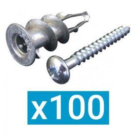 ING FIXATIONS Cheville placo autoforeuse Plak métal + vis - Boite de 100 - A200010