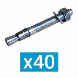 ING FIXATIONS Goujon d'ancrage M8x112 - Boite de 40 - A232240