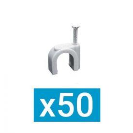 ING FIXATIONS Pontet plastique D12 + clou acier - Boite de 50 - A322120