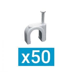 ING FIXATIONS Pontet plastique D14 clou en acier- Boite de 50 - A322130