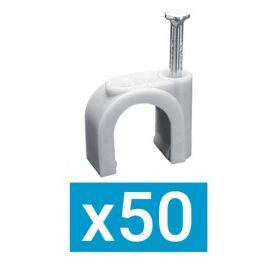 ING FIXATIONS Pontet plastique D20 clou en acier- Boite de 50 - A322150