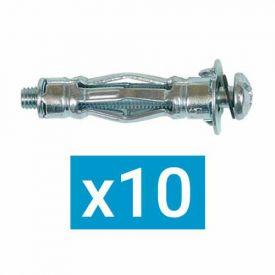 ING FIXATIONS Cheville métallique à expansion 6x52 + vis - Sachet de 10 - A858260