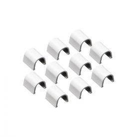 INOFIX Cablefix Lot de 10 accessoires droits 10,5 x 10 mm pour gaine adhésive - Blanc