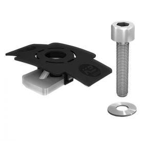 K2 SYSTEMS Kit de fixation pour micro-onduleur sur rail SolidRail - 1001643