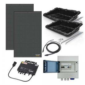 Kit solaire autoconsommation 600W DUALSUN + micro-onduleur APS - toiture plate ou au sol