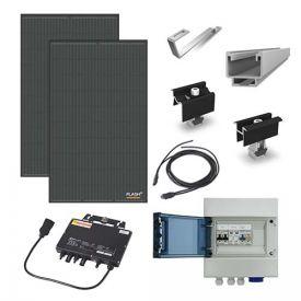 Kit solaire autoconsommation 600W DUALSUN + micro-onduleur APS - toiture tuile plate