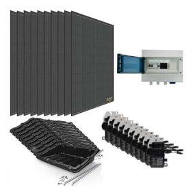 Kit solaire autoconsommation 3000W DUALSUN + micro-onduleurs ENPHASE - toiture plate ou au sol
