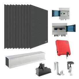 Kit solaire autoconsommation 3000W DUALSUN + onduleur SMA - toiture tuile