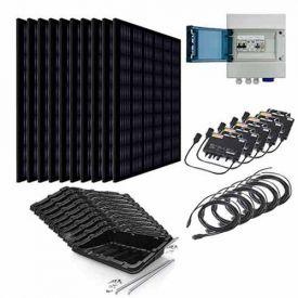 Kit solaire autoconsommation 3000W EURENER + micro-onduleurs APS - toiture plate ou au sol