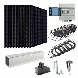 Kit solaire autoconsommation 3000W EURENER + micro-onduleurs APS - toiture tuile