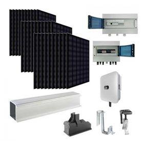 Kit solaire autoconsommation 9000W triphasé EURENER + onduleur HUAWEI - toiture tuile