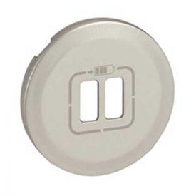LEGRAND Céliane Enjoliveur titane double chargeur USB - 068556
