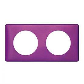 LEGRAND Céliane Plaque Métal 2 postes Violet irisé - 068712