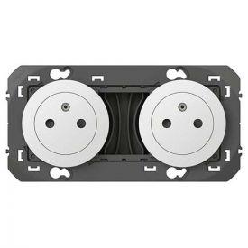 LEGRAND Dooxie Double prise de courant précâblée 2P+T surface blanc - 600332