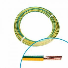 Fil électrique rigide H07VR 6² Vert / Jaune - Couronne de 25m