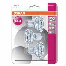 OSRAM Lot de 3 Spots LED GU10 36° 230lm 2,6W 230V PAR16