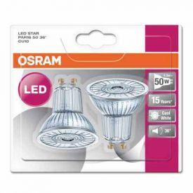 OSRAM Lot de 2 Ampoules LED PAR16 GU10 36° 230V 4,3W(=50W) 350lm 4000°K