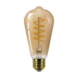 PHILIPS Vintage Ampoule LED filament dimmable E27 230V 5,5W(=25W) 250lm 2000K LEDbulb Edison or - 686567