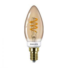 PHILIPS Ampoule LED dimmable filament E14 230V 3,5W(=15W) 136lm 2000K LEDcandle flamme ambrée - 686604